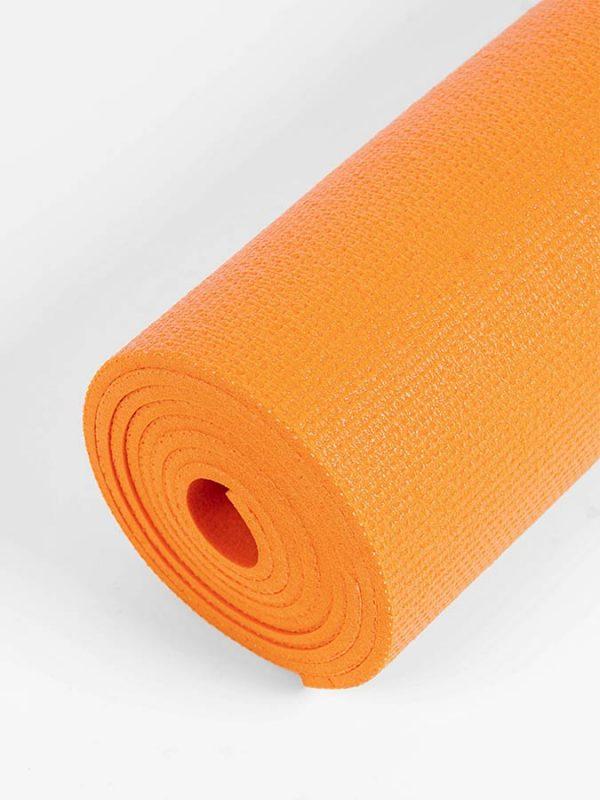 Oeko-Tex Original Sticky Long 4.5mm Yoga Mat - Tangerine Orange (5)