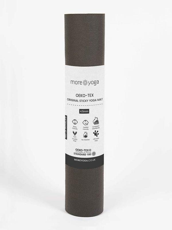 Oeko-Tex Original Sticky Long 4.5mm Yoga Mat - Taupe Brown (4)