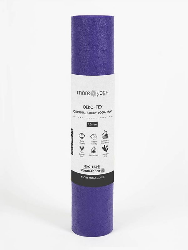 Oeko-Tex Original Sticky Standard 4.5mm Yoga Mat - Purple Grape (4)